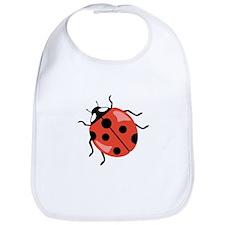 Red Ladybug Bib