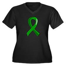 Awareness Ri Women's Plus Size V-Neck Dark T-Shirt