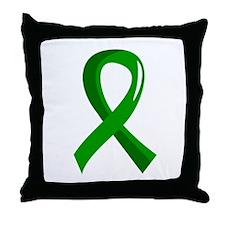 Awareness Ribbon 3 TBI Throw Pillow