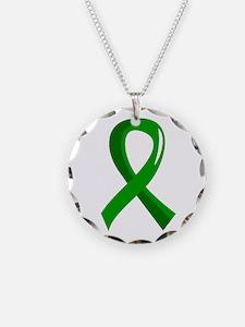 Awareness Ribbon 3 TBI Necklace