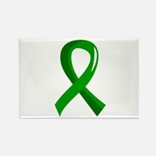 Awareness Ribbon 3 TBI Rectangle Magnet