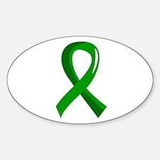 Awareness Ribbon 3 TBI Sticker (Oval)