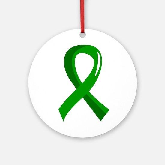 Awareness Ribbon 3 TBI Ornament (Round)