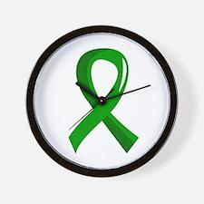 Awareness Ribbon 3 TBI Wall Clock