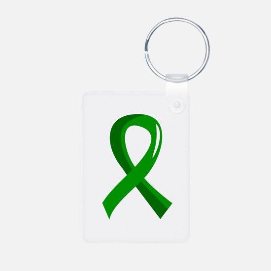 Awareness Ribbon 3 TBI Aluminum Photo Keychain