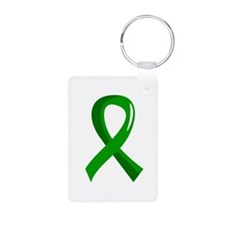 Awareness Ribbon 3 TBI Keychains