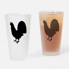 Grouse Silhouette Drinking Glass
