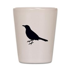 Blackbird Silhouette Shot Glass