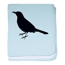 Blackbird Silhouette baby blanket