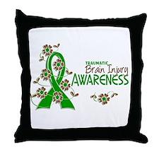 Awareness 6 TBI Throw Pillow