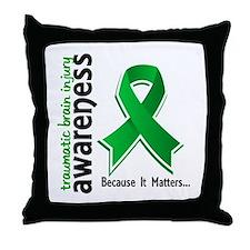 Awareness 5 TBI Throw Pillow