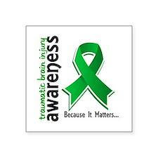 "Awareness 5 TBI Square Sticker 3"" x 3"""