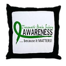 Awareness 2 TBI Throw Pillow