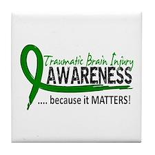 Awareness 2 TBI Tile Coaster