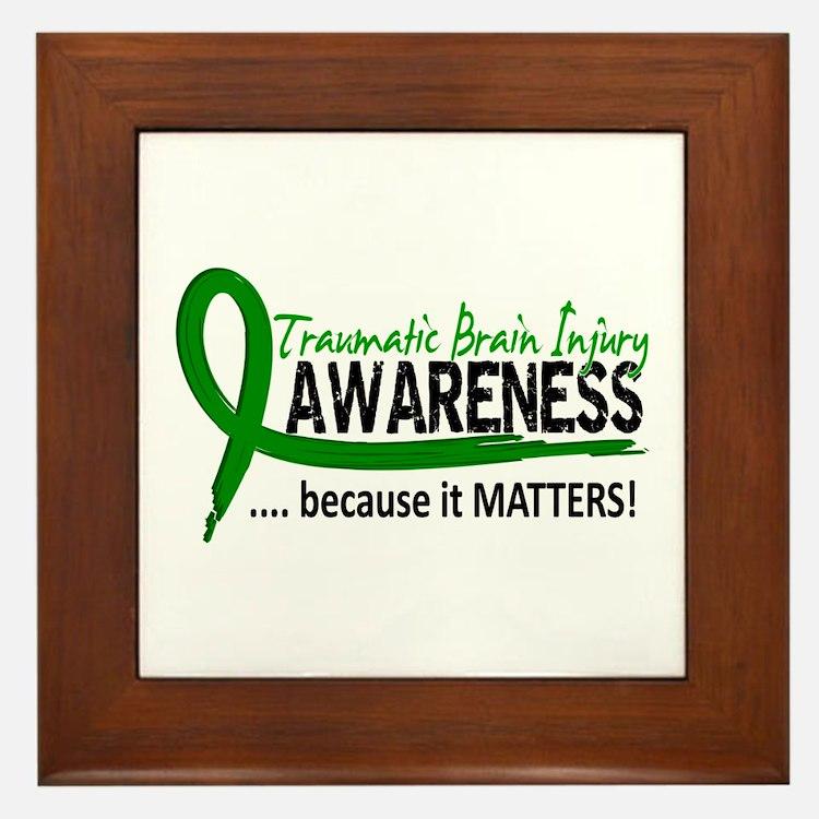 Awareness 2 TBI Framed Tile