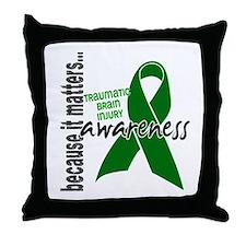 Awareness 1 TBI Throw Pillow