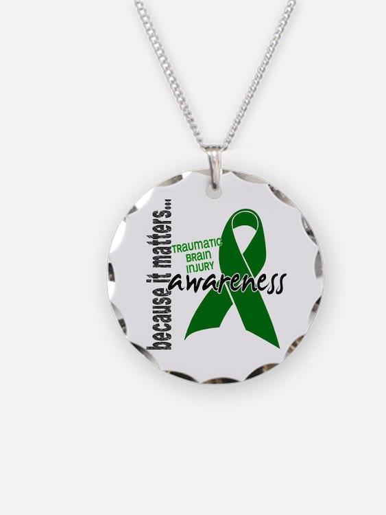 Awareness 1 TBI Necklace
