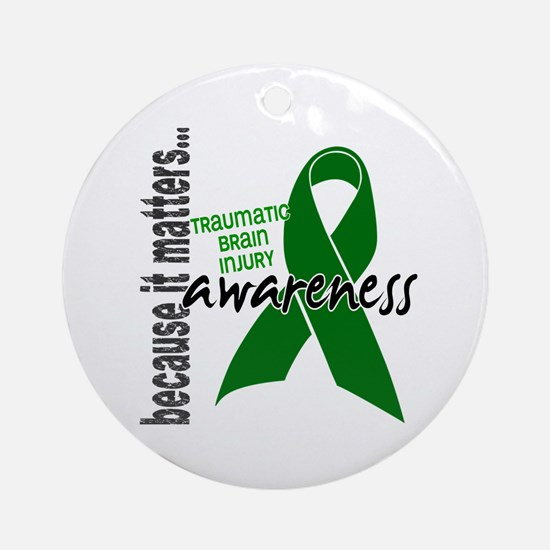 Awareness 1 TBI Ornament (Round)