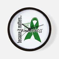 Awareness 1 TBI Wall Clock