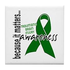 Awareness 1 TBI Tile Coaster