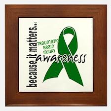 Awareness 1 TBI Framed Tile