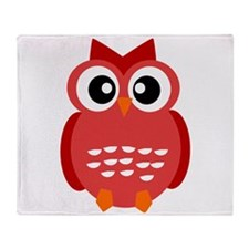 Red Owl Throw Blanket