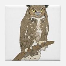 Eurasian Eagle-Owl Tile Coaster