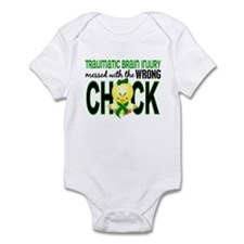 Messed With Wrong Chick 1 TBI Infant Bodysuit