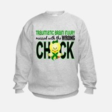 Messed With Wrong Chick 1 TBI Sweatshirt
