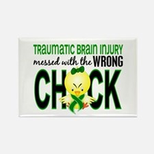 Messed With Wrong Chick 1 TBI Rectangle Magnet