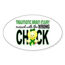 Messed With Wrong Chick 1 TBI Decal