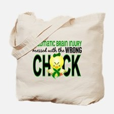 Messed With Wrong Chick 1 TBI Tote Bag