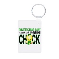 Messed With Wrong Chick 1 Keychains