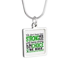 How Strong We Are TBI Silver Square Necklace