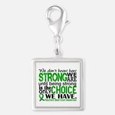 How Strong We Are TBI Silver Square Charm
