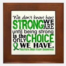 How Strong We Are TBI Framed Tile