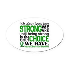 How Strong We Are TBI Oval Car Magnet