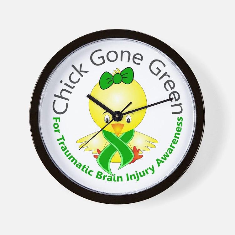 Chick Gone Green 5 TBI Wall Clock