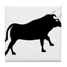 Black Bull Tile Coaster
