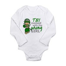 Combat Girl TBI Long Sleeve Infant Bodysuit