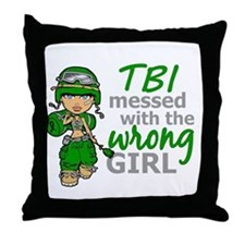 Combat Girl TBI Throw Pillow
