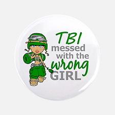 "Combat Girl TBI 3.5"" Button"