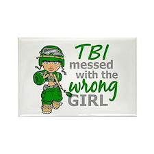 Combat Girl TBI Rectangle Magnet