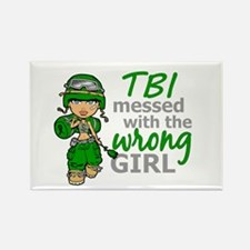 Combat Girl TBI Rectangle Magnet