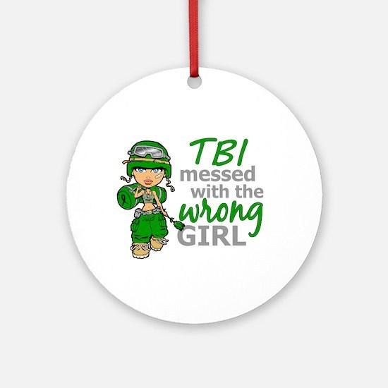 Combat Girl TBI Ornament (Round)