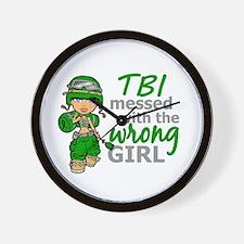 Combat Girl TBI Wall Clock