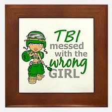Combat Girl TBI Framed Tile