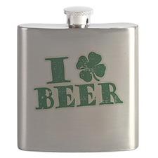 I Shamrock Beer (I love beer) Flask