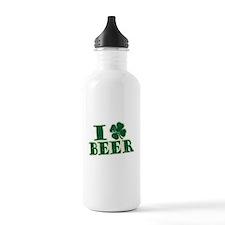 I Shamrock Beer (I love beer) Water Bottle