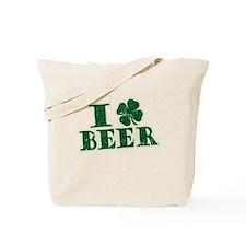 I Shamrock Beer (I love beer) Tote Bag